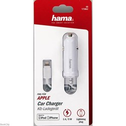 تصویر  شارژر hama Car Charger Lightning Plug 173862